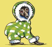 Italian Greyhound Happy Plaid Snowsuit Kids Tee
