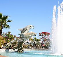 Dolphin Fountain by prestongeorge