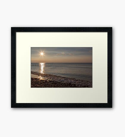 Sunset and reflection Framed Print