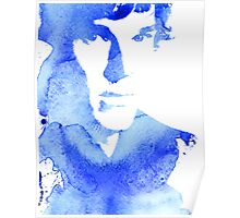 sherlock in blue Poster