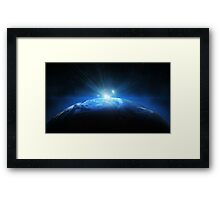 Earth Halo Framed Print