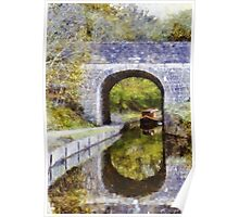 Canal boat near tunnel  Poster