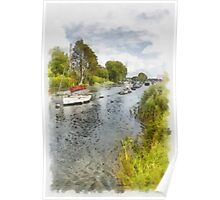 River boat mooring Poster