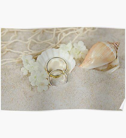 Beach Wedding Poster