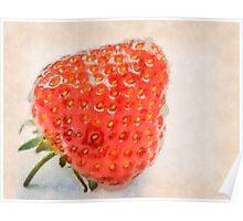 Ripe strawberry Poster