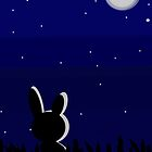 Rabbit at Night  by Elinor Barnes