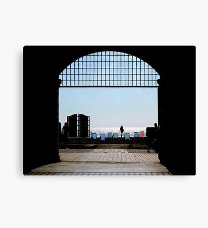 Brighton through the Archway Canvas Print