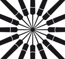 Darts Circle Sticker