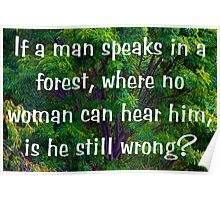 Male In The Forest Poster
