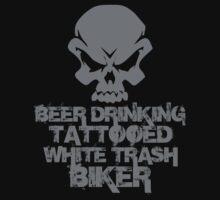 Beer Drinking Tattooed White Trash Biker by David Ayala