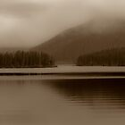 Sepia of Lake and Mountains by Photopa