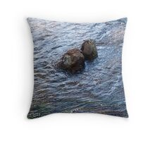 Clear Blue Rush Throw Pillow