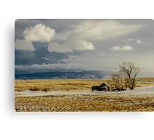Old Cabin in the Plains  Canvas Print