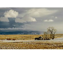 Old Cabin in the Plains  Photographic Print