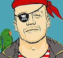 Macklemore as a Pirate by Brittainey S