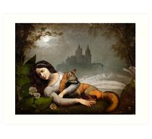dreaming in the woods Art Print