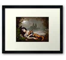 dreaming in the woods Framed Print