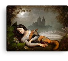 dreaming in the woods Canvas Print