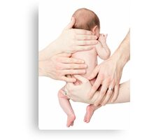 Parenting is hands on Canvas Print