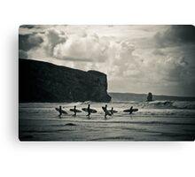 Surfers Canvas Print