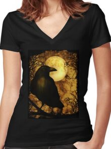 The Raven Women's Fitted V-Neck T-Shirt