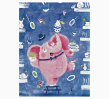 Elephant in a porcelain shop - Clumsy Rondy the Elephant Kids Clothes