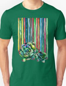 Rainbow Succulents Unisex T-Shirt