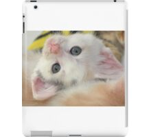Silly girl with a cute face iPad Case/Skin