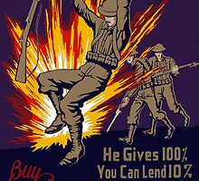 He Gives 100% You Can Lend 10% by warishellstore