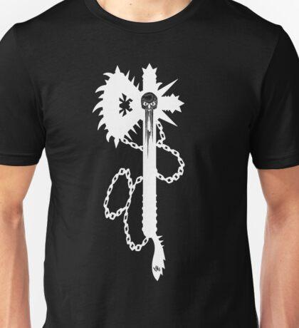 """""""Skulled Bastard-axe White"""" T-shirt Unisex T-Shirt"""