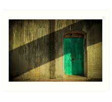 Blue Castle Door Art Print