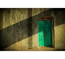 Blue Castle Door Photographic Print