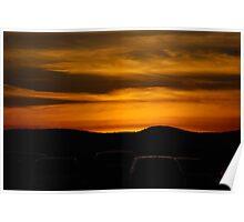 Adirondack Sunset Poster