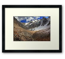 Barren rocks II (HDR) Framed Print