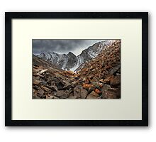 Barren rocks III (HDR) Framed Print