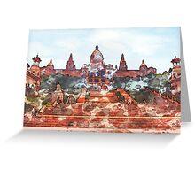 Barcelona's Palau Nacional Greeting Card