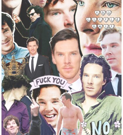 benedict collage Sticker