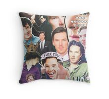 benedict collage Throw Pillow
