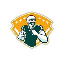 American Football Runningback Crest by patrimonio
