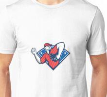 Baseball Pitcher Throwing Ball Retro Unisex T-Shirt
