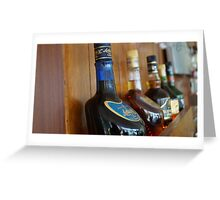 Bar showcase Greeting Card
