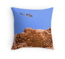 Above Masada Israel Throw Pillow