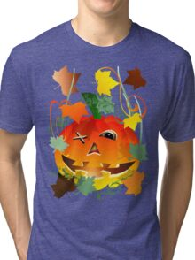 Bright Pumpkin Tri-blend T-Shirt