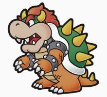 Super Mario - Paper Bowser by StraightEK
