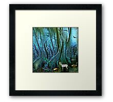Once upon a time there was a princess who lived in an old tree Framed Print