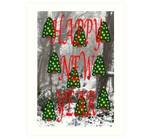 HAPPY NEW YEAR 60 Art Print