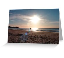 The Man from Beyond the Light Barrier Greeting Card