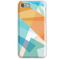 orange and blue - diagonal geometric abstract cases iPhone Case/Skin
