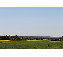 Just a late summer landscape. Farmland. Afternoon. Løten, Norway. Photographic Print