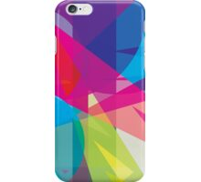 blue, pink  +  yellow / green - abstract case design iPhone Case/Skin